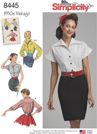 Vintage Blouses and Cummerbund. Simplicity 8445.