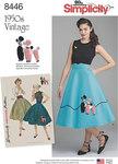 Simplicity 8446. Vintage Skirt and Cummerbund.