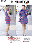 Simplicity 8451. Mimi G Miss Dress and Lined Coat.