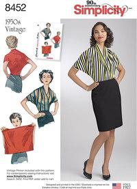 Vintage Knit Blouse. Simplicity 8452.