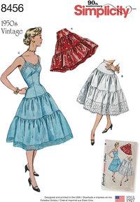 Vintage Petticoat and Slip. Simplicity 8456.