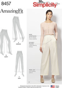 Amazing Fit Trousers. Simplicity 8457.