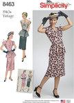 Simplicity 8463. Vintage Two Piece Dress.
