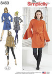 Simplicity 8469. Coat and Vest with Length Variations.