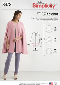 Capes with Options for Design Hacking. Simplicity 8473.