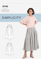 Skirts. Simplicity 9180.