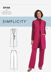 Vest and Pants. Simplicity 9184.