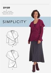 Knit Wrap Jacket. Simplicity 9189.