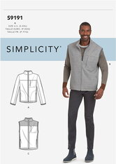 Vests and Jacket. Simplicity 9191.