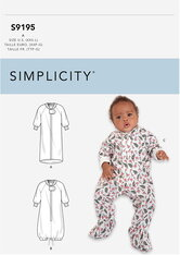 Infants Bunting and Jumpsuit. Simplicity 9195.