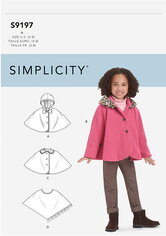 Childrens Capes and Poncho. Simplicity 9197.