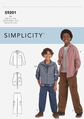 Childrens and Boys Shirt, Vest and Pull-On Pants. Simplicity 9201.