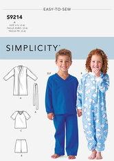 Childrens Cozywear. Simplicity 9214.