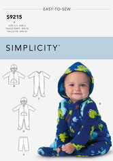 Babies Jackets, Footed Bodysuits and Pants. Simplicity 9215.