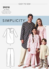 Childrens Tunic and Pants. Simplicity 9218.