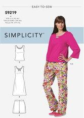 Petite Sleepwear. Simplicity 9219.