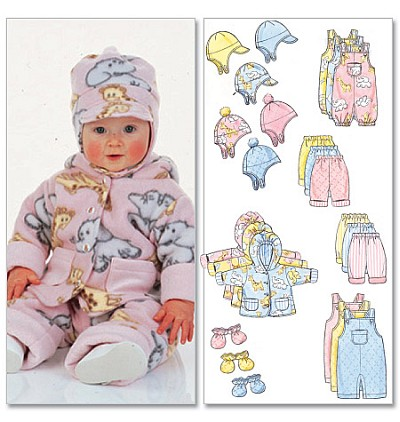 Infants Jacket, Overalls, Pants, Hat and Mittens