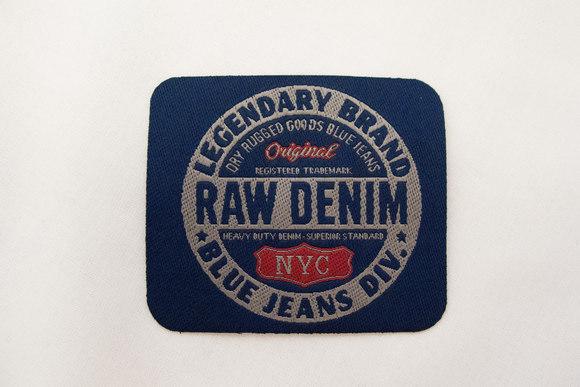 Raw denim patch 6x7cm.