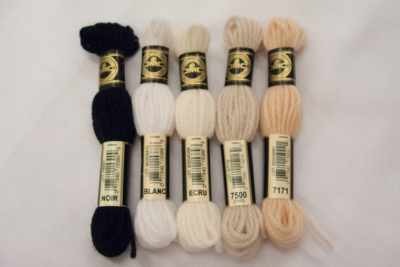 Wool-embroidery yarn DMC