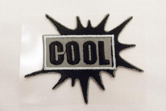 Cool patch gry/black 6x5cm