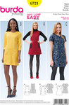 Burda 6721. Dress, Sleeveless Dress  Flared, Patch Pockets.