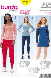 Burda pattern: Top, Dress, Square Neck