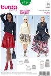 Tiered Skirt, Rib Knit Yoke