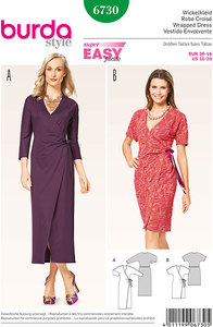 Burda pattern: Wrap Dress, Kimono Sleeves