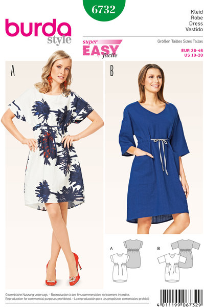Dress, O-Shape, Drawstring Casing