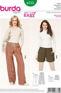 Burda pattern: Pants, Drawstring Casing