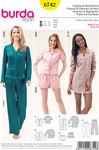 Burda 6742. Pyjamas, Nightshirt, Shorts, Blouse, Tunic Top.