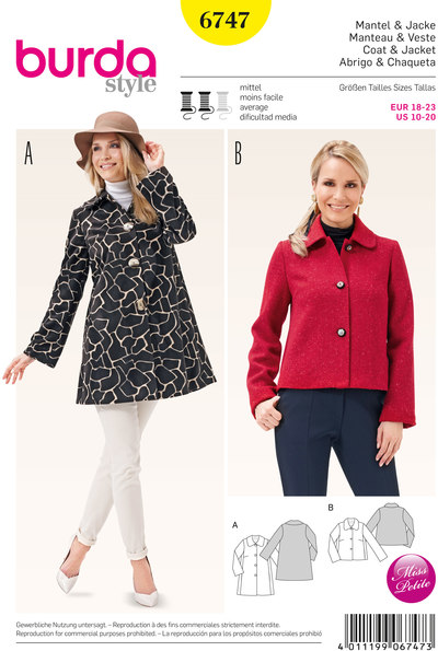 Coat, Jacket, Flared with a Peter Pan Collar