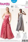 Evening Dress, Bustier Dress, Side Gathering