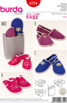 Burda 6754. Slippers, Guest Slippers Set.