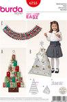 Christmas, Advent Calendar, Pyramid-shaped Cushion
