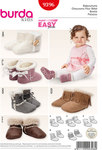 Burda 9396. Baby Booties, Faux Fur Booties.