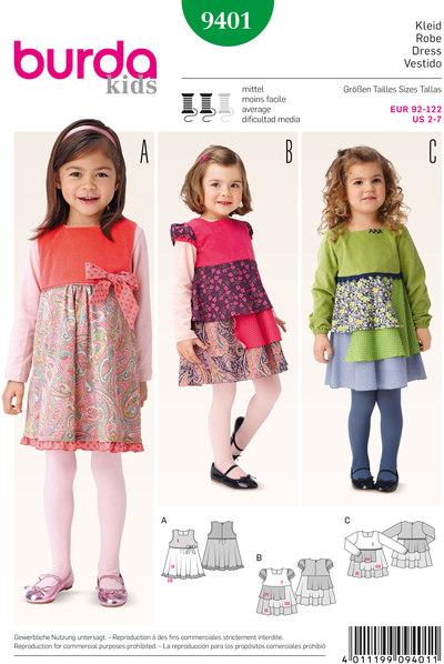 Dress, Pinafore Dress, Fabric Mix