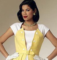 Butterick 6211. Dress and Belt.