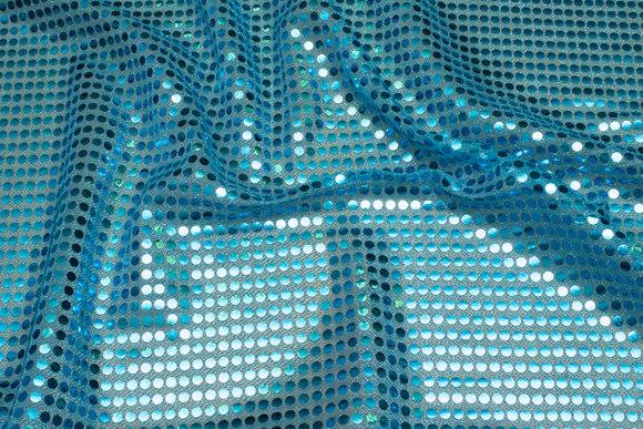 Turqoise sequin-fabric