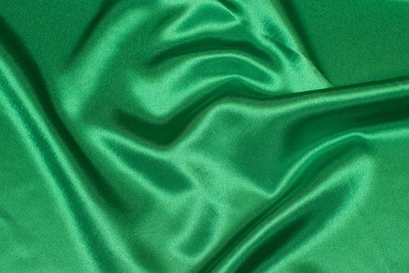 Strong green crepe satin