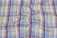 Large-checks, crinkle shirt-fabric.