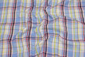 Large-checks, crinkle shirt-fabric