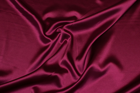 Wine-red stretch-satin