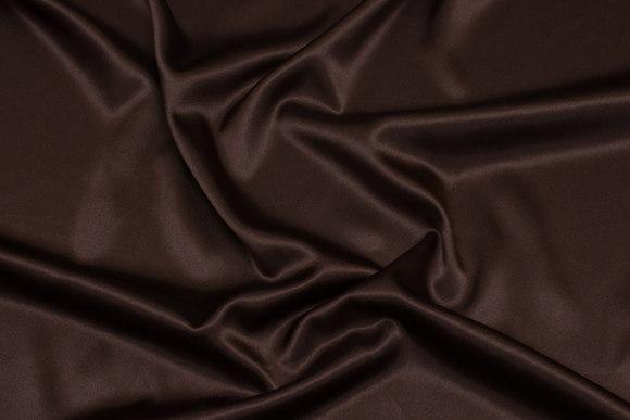 Dark brown stretch-satin