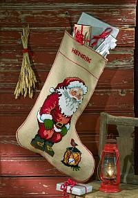 Permin 41-9295. Embroidey Christmas stocking.