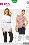 Blouse with v-neck and lapels