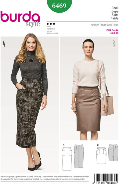 Classic short and long skirt