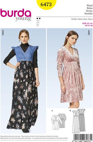 Dress with high waist
