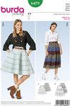 Burda 6479. Skirt in panels.