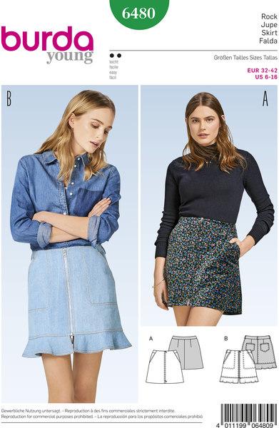 Skirt with zipper